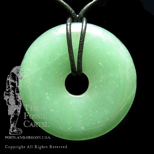 Stone disc pendant