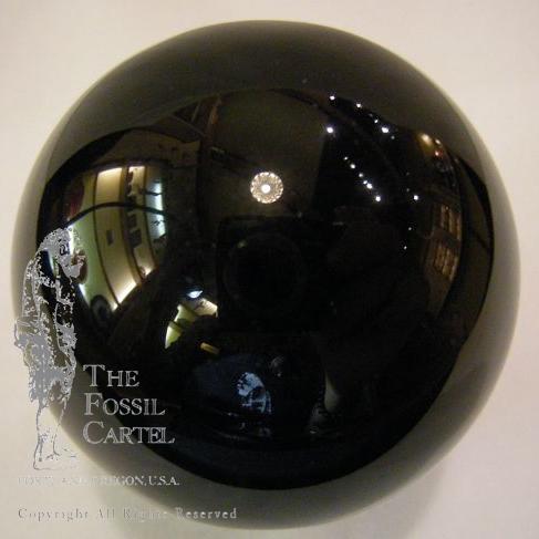 obsidian glass sphere