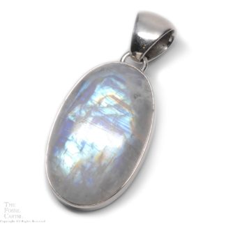Moonstone Oval Cabochon Sterling Silver Pendant