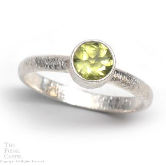 Peridot and Sterling Silver Ring