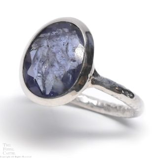 Kyanite Oval Faceted Sterling Silver Ring