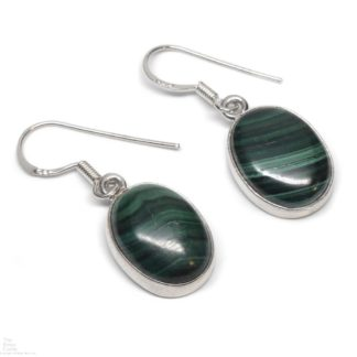 Malachite Sterling Silver Earrings