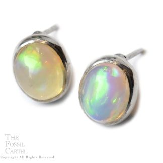 Ethiopian Opal Stud Earrings