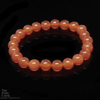 Carnelian Agate Bead Bracelet