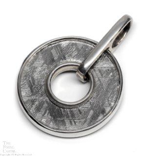 Muonionalusta Meteorite Slice in Sterling Silver