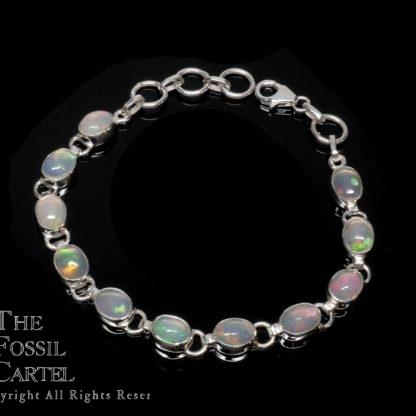 Ethiopian Opal Oval Sterling Silver Bracelet