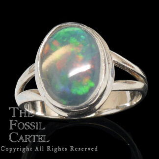 Ethiopian Opal Oval Cabochon Sterling Silver Ring