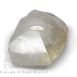 Quartz Crystal Candle Holder top
