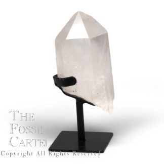 Quartz Point with Wrought Iron Stand