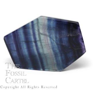 Cut and Polished Rainbow Fluorite Slab