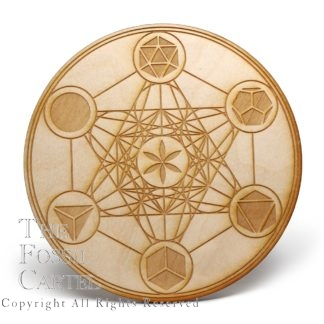 Metatron's Cube with Platonic Solids Crystal Grid