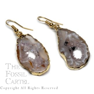 Oco Geode Earrings Gold Light