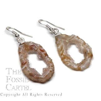 Oco Geode Slice Earrings