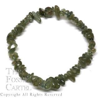Green Apatite Chip Bracelet