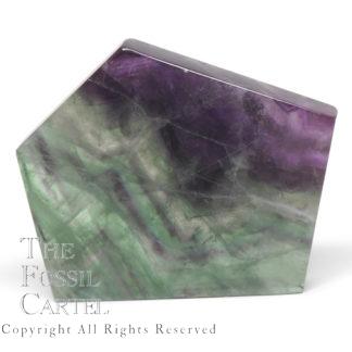Polished Rainbow Fluorite Slab