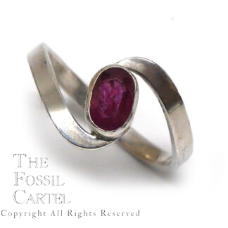 Ruby Faceted Oval Sterling Silver Ring