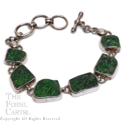 Uvarovite Garnet Sterling Silver Bracelet