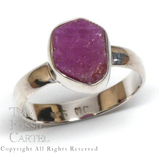 Rough Ruby Crystal Sterling Silver Ring