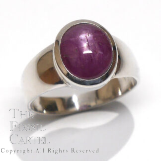 Star Ruby Oval Shaped Sterling Silver Ring