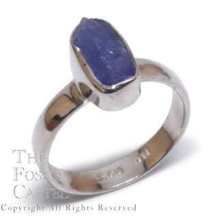 Rough Sapphire Sterling Silver Ring; Size 6
