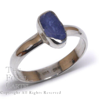 Rough Sapphire Sterling Silver Ring; Size 8 3/4