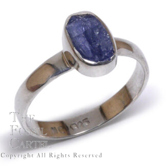 Rough Sapphire Sterling Silver Ring; Size 10 1/2