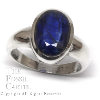 Kyanite Oval Faceted Sterling Silver Ring; Size 9