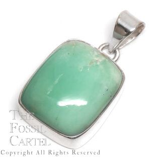Chrysoprase Rectangle Sterling Silver Pendant