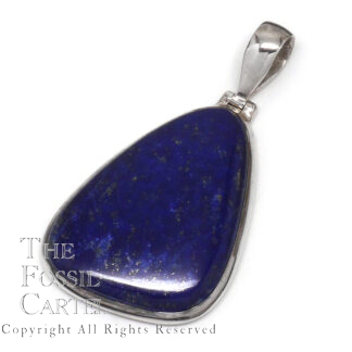 Lapis Lazuli Free Form Sterling Silver Pendant