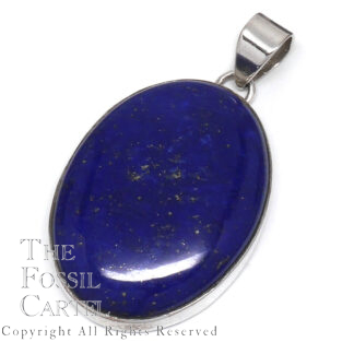 Lapis Lazuli Oval Sterling Silver Pendant