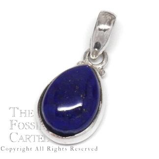 Lapis Lazuli Teardrop Sterling Silver Pendant