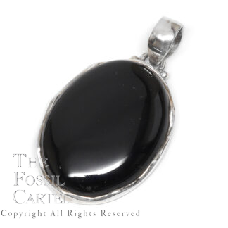 Onyx Oval Sterling Silver Pendant