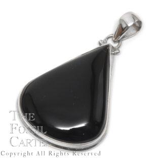 Onyx Teardrop Sterling Silver Pendant