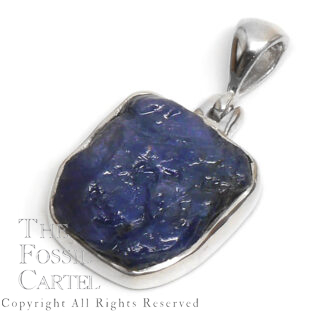 Sapphire Rough Sterling Silver Pendant