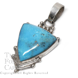 Turquoise Sleeping Beauty Triangle Sterling Silver Pendant