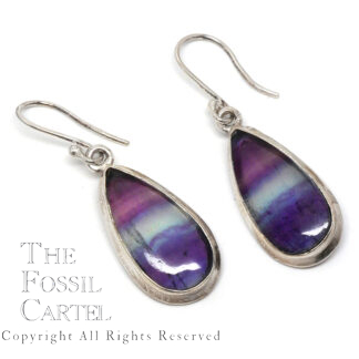 Rainbow Fluorite Sterling Silver Earrings