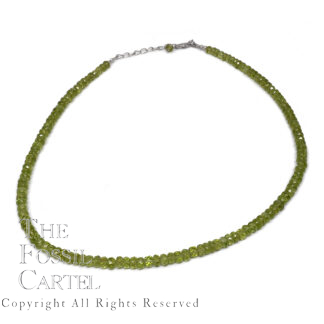 Peridot Faceted Bead Necklace