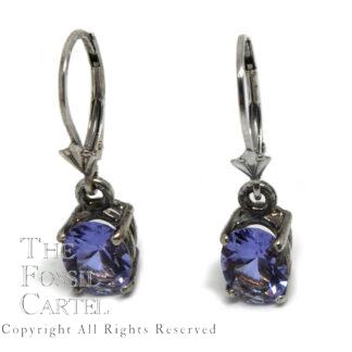 Twilight Obsianite Oval-Cut Lever Back Sterling Silver Earrings