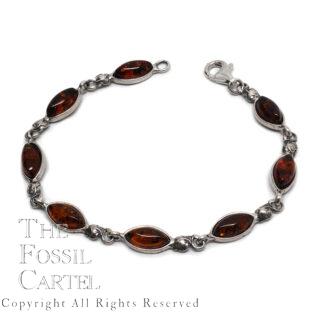 Amber Sterling Silver Bracelet