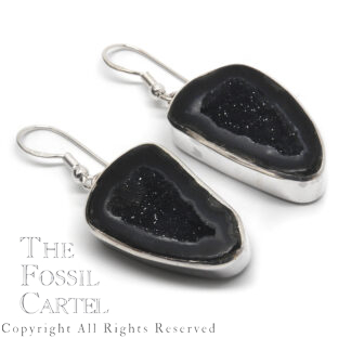 Geode Sterling Silver Earrings