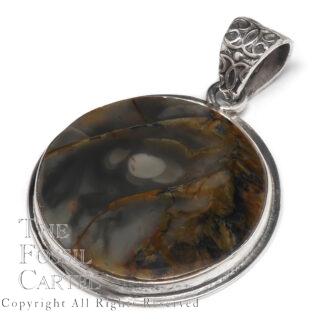 Morrisonite Circular Sterling Silver Pendant