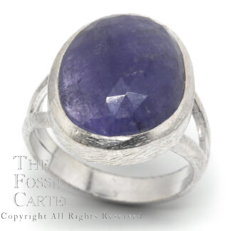 Tanzanite Freeform Faceted Sterling Silver Ring