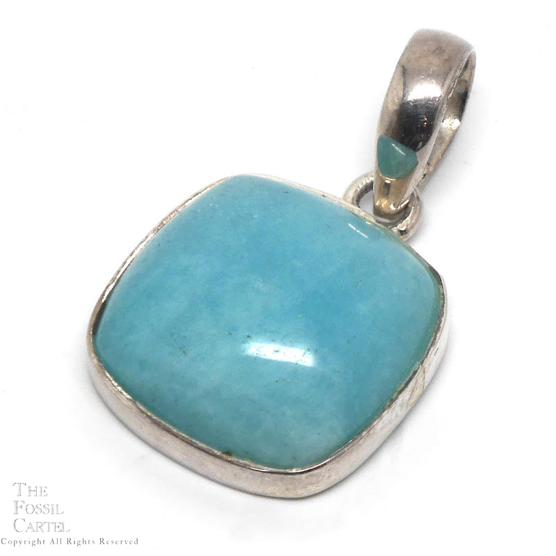 Amazonite and sterling pendant