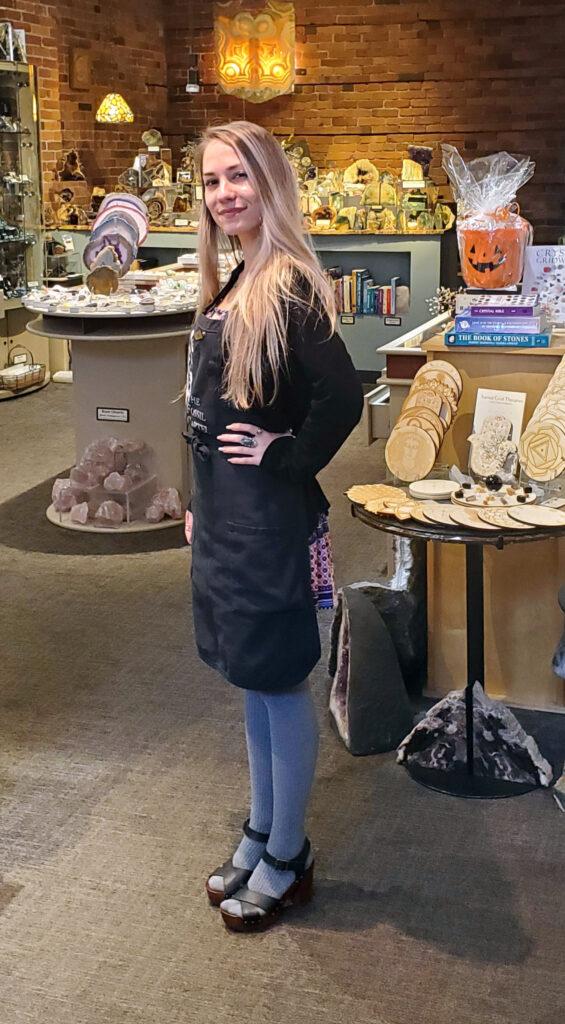 Sales associate Jen standing in the store