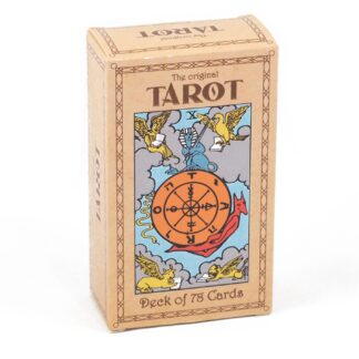 A tarot deck with original rider-smith illustrations against a white background