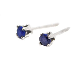 Lapis Lazuli Sterling Silver Stud Earrings against a white background